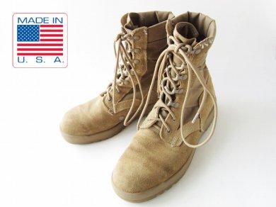 実物/米軍/デザート/コンバットブーツ/スエード/薄茶系【8.5R/26.5cm】ジャングルブーツ/ミリタリーブーツ/サバゲー/メンズ/靴/D138