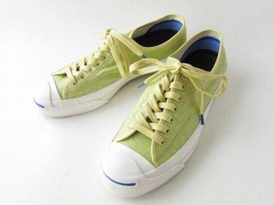 《新品》【CONVERSE】コンバース/ジャックパーセル/スニーカー/黄緑系【US8/26cm】メンズ/靴/アメリカ企画/D139