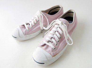 《美品》【CONVERSE】コンバース/ジャックパーセル/スニーカー/ピンク系【US9/27cm】メンズ/靴/D139