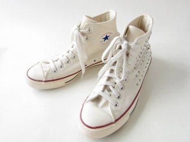 《レア》【Converse】コンバース/オールスター/スタッズ/生成り系【26.5cm】チャックテイラー/メンズ/靴/D138