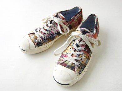 【Converse】コンバース/ジャックパーセル/チェック柄【US7.5/25.5cm】スニーカー/メンズ/靴/D137