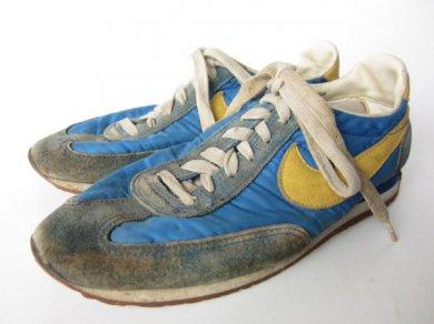 ビンテージ/80's/NIKE/ナイキ/オセアニア/スニーカー/青系×黄色系【幅狭25.5cm】メンズ/靴/スニーカー/D98