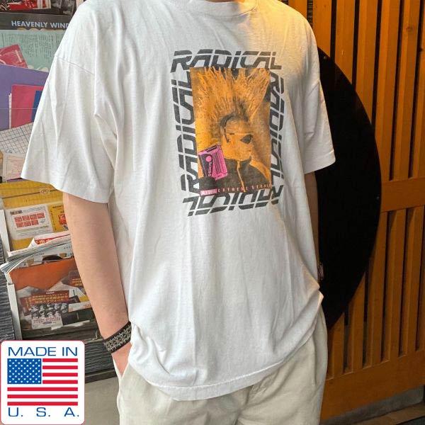 90's/USA製/AIWA/アイワ/企業物/Tシャツ/白系【XL】丸首/丸胴/パンク/ロック/RADICAL/フルーツオブザルーム/ビンテージ/D139