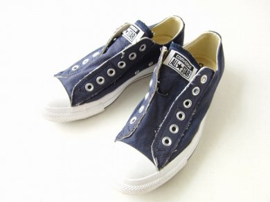 【Converse】コンバース/オールスター/スリッポン/紺系【レディースUS7/24cm】スニーカー/靴/D137