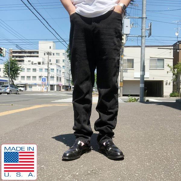 90's/USA製/GUESS/ゲス/ブラック ジーンズ【32】スリムジーンズ/ジーパン/デニムパンツ/ビンテージ/D138