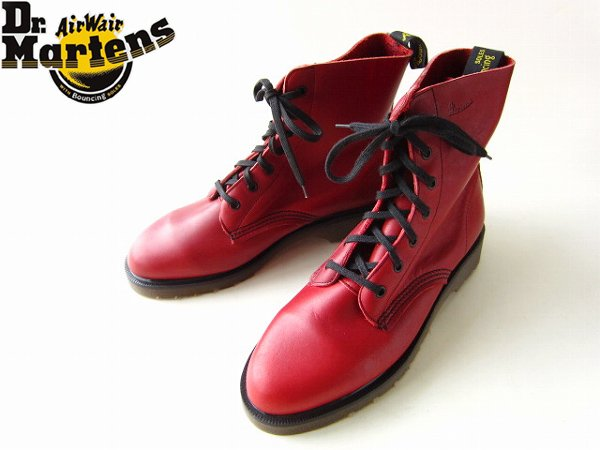 【新品】英国製/Dr.Martens/ドクターマーチン/7ホール/ブーツ/赤系【レディース24cm】靴/デッドストック/D140