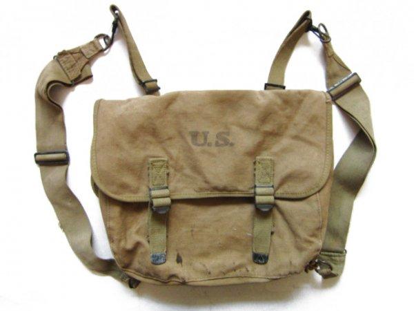 40's/実物/米軍/1943/キャンバスバッグ/ショルダーバッグ/ミュゼットバッグ/サコッシュ/ビンテージ/D140