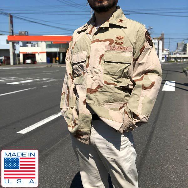 美品/90's/実物/米軍/US ARMY/3C/デザートカモ/ジャケット【M-R】パッチ/迷彩/ミリタリージャケット/アメリカ軍/サバゲー/D141