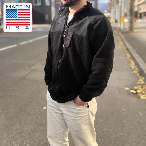 実物/米軍/US NAVY/フリース/ジャケット/黒【S-L】NWUゴアテックス パーカー ライナー/USN/アメリカ軍物/アメリカ製/USA製/D141
