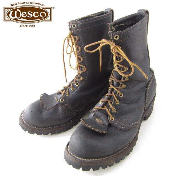 USA製/WESCO/ウエスコ/ジョブマスター/ワークブーツ/黒【10D/28cm】レースアップブーツ/ビンテージ/メンズ/靴/D141