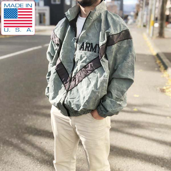 新品/USA製/実物/米軍/US ARMY/IPFU/デジカモ/ナイロン/ジャケット【L-R】デッドストック/ミリタリー/リフレクター/D142
