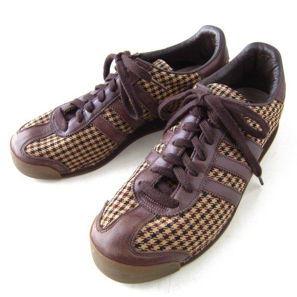 adidas/アディダス/サモア LX-2/千鳥格子×レザー/スニーカー【26cm】ハウンドトゥース/メンズ/靴/D142