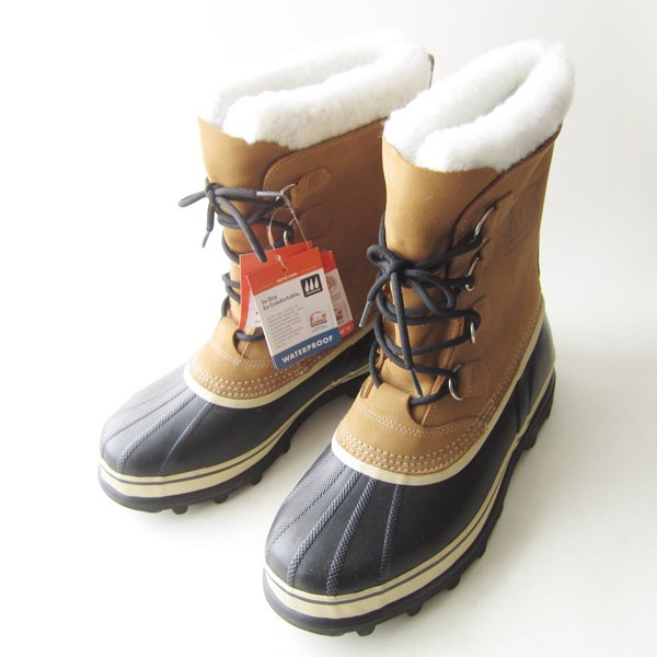 新品/定価2.2万円/SOREL/ソレル/CARIBOU/カリブー/スノー/ガムブーツ/薄茶系【USA10/28cm】メンズ/靴/未使用品/D142