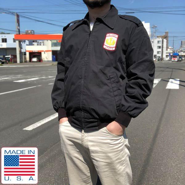 実物/米軍/US ARMY/ウィンドブレーカー/黒【S】サービスジャケット/USA製/アメリカ製/ミリタリージャケット/D142