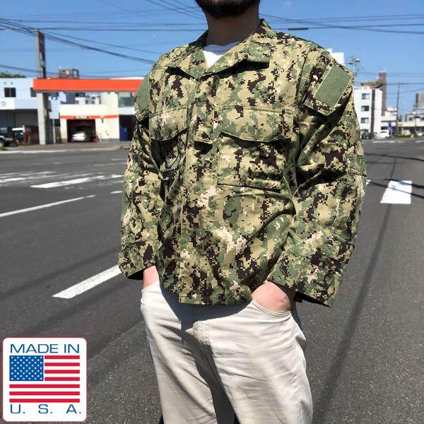 美品/実物/米軍/USN/NWU/TYPE3/デジカモ/ジャケット【S-XS】US NAVY/SEABEES/USA製/ミリタリージャケット/サバゲー/D142