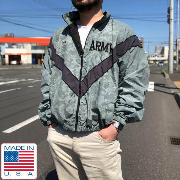 USA製/実物/米軍/US ARMY/IPFU/リフレクター/デジカモ/ナイロン/ジャケット/グレー系【M-S】ミリタリージャケット/古着/D142