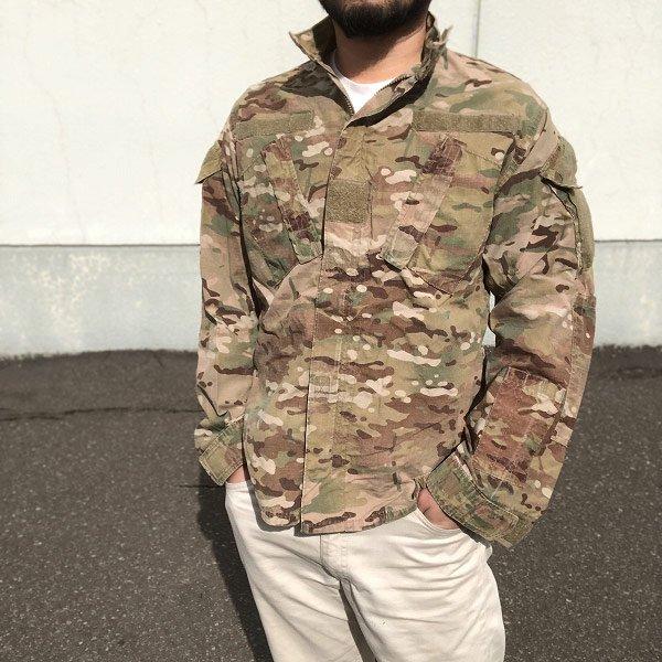 実物/米軍/US ARMY/マルチカム/ジャケット【S-R】ACU/アーミー コンバット ユニフォーム/サバゲー/D140