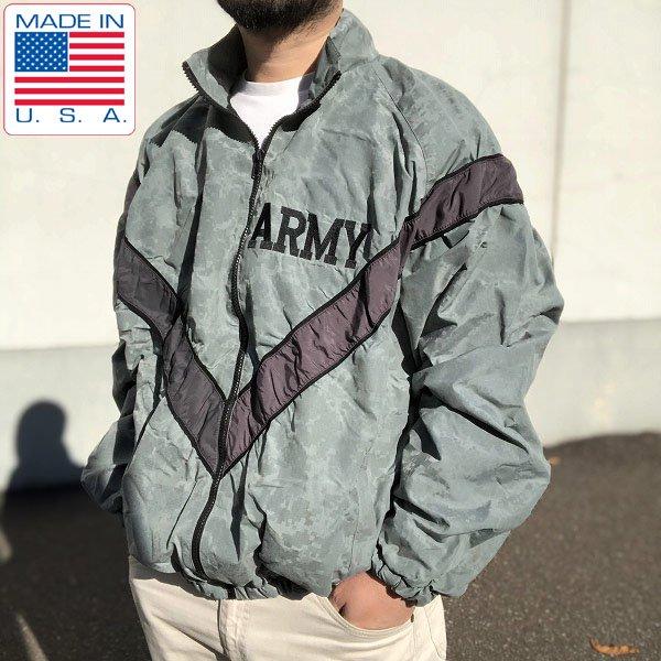 USA製/実物/米軍/US ARMY/IPFU/デジカモ/トレーニング/ナイロン/ジャケット/グレー系【L-R】ミリタリー/リフレクター/D142