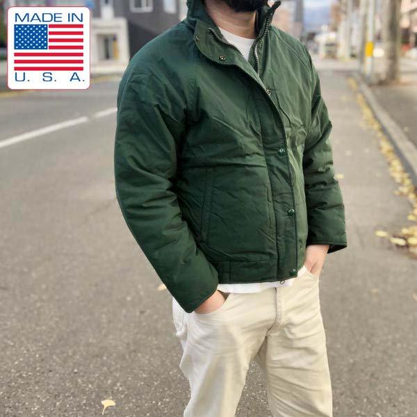 茶タグ/USA製/ノースフェイス/森林警備隊 実物品/中綿ジャケット/1990年製/緑系【メンズS程度】ビンテージ/THE NORTH FACE/D139