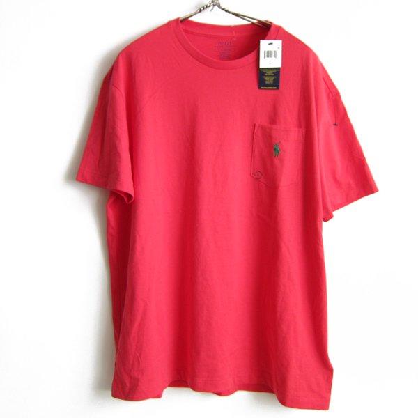 新品/POLO/ポロ/ラルフローレン/片ポケット/半袖Tシャツ【L】100%コットン/ポケT/未使用品/デッドストック/D141