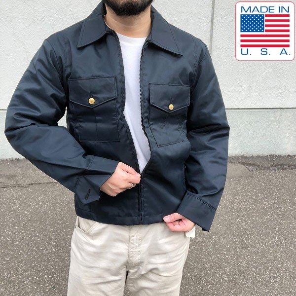 新品/USA製/アメリカ/ポリスジャケット/紺系【S-R】着脱ライナー付/ボンバージャケット/警察官/デッドストック/D132