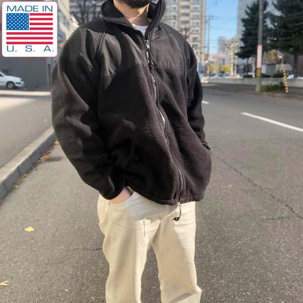 実物/米軍/GEN2/LEVEL3/ポーラテック/フリース/ジャケット/黒【L】ミリタリー/ECWCSゴアテックスライナー/アメリカ軍/USA製/D142