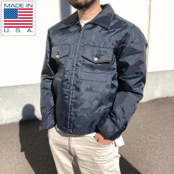 新品/USA製/アメリカ/ポリスジャケット/2WAY/紺系【M-R】ライナー付/警察官の方にも/ボンバージャケット/デッドストック/D132