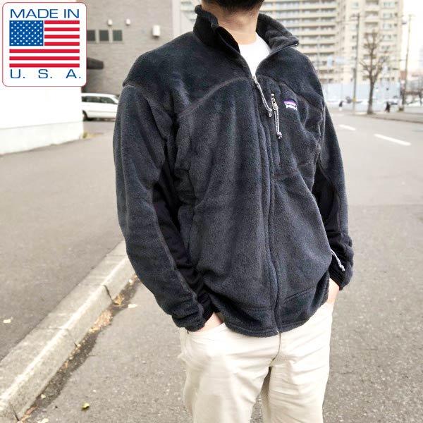 美品/2002年製/USA製/パタゴニア/R2/フルジップ/ポーラテック/フリースジャケット【L】濃いグレー系/patagonia/古着/メンズ/D142