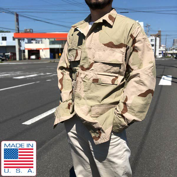 新品/実物/米軍/US ARMY/3C/デザートカモ/ジャケット【M-L】迷彩/ミリタリージャケット/アメリカ軍/サバゲー/デッドストック/D142
