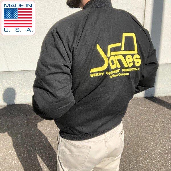 新品/USA製/M.A.Klein/中綿ジャケット/黒【M】重機メーカーJones/企業物/ブルゾン/アメリカ製/米国製/デッドストック/D142