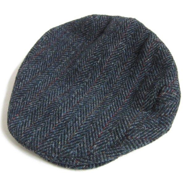 英国製/JOHN HELMER/ツイード/HBT/ハンチングキャップ/ヘリンボーン/鳥打帽/帽子/D142
