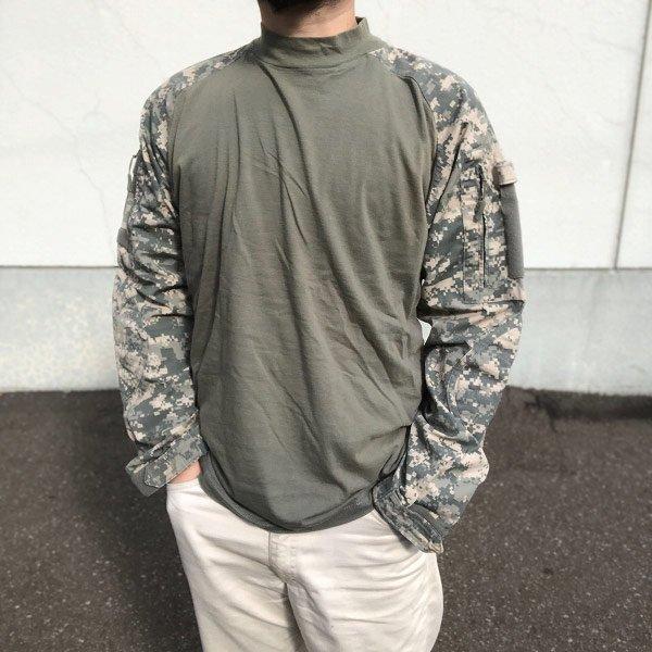 米軍タイプ/TRU-SPEC/コンバットシャツ/デジカモ/迷彩/長袖【L】トゥルースペック/サバゲー/カーキ/サバイバルゲーム/D140