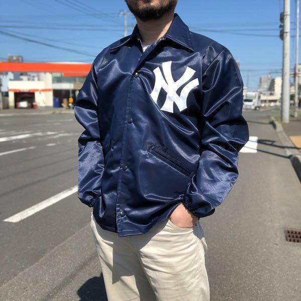 レア/70's/NY/ヤンキース/コーチジャケット/紺系【M-L程度】ビンテージ/古着/ニューヨークヤンキース/MLB/メジャーリーグ/PV