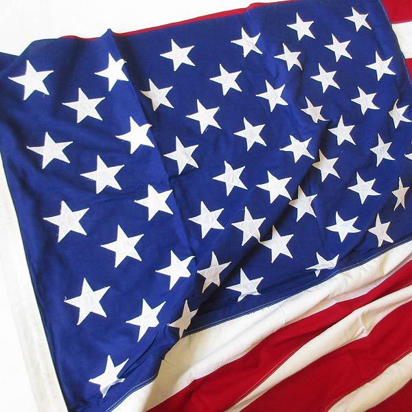 特大/新品/ビンテージ/アメリカ国旗/星条旗/50星/フラッグ/コットン/148cm×288cm/インテリア/写真館/ディスプレイ/背景生地/D128