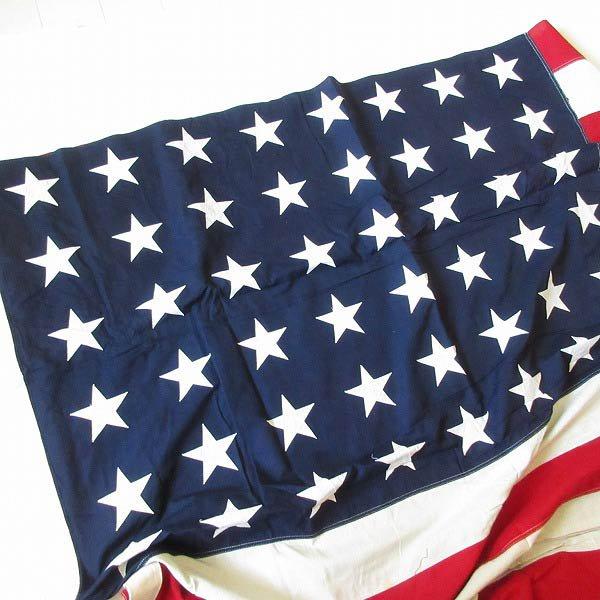 特大/〜50's/48星/アメリカ国旗/星条旗/148×290/コットン/フラッグ/インテリア/写真館/ディスプレイ/ビンテージ/スタジオ/D128