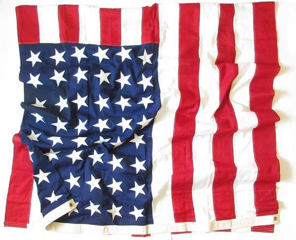 ビンテージ/〜50's/48星/アメリカ国旗/星条旗/フラッグ/旗/コットン/150×296/インテリア/写真館/ディスプレイ/スタジオ/D128