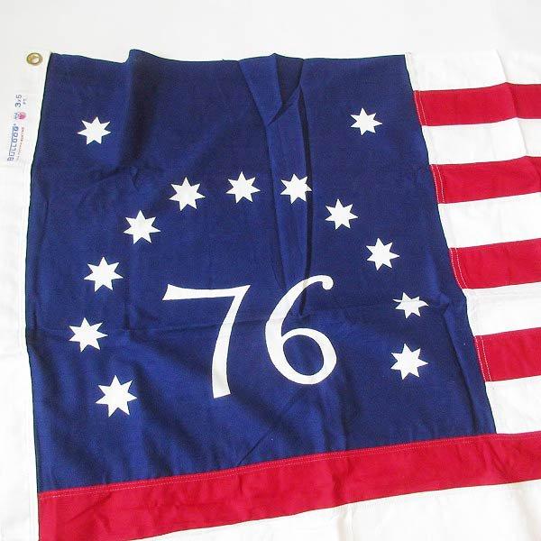 新品/70's/76星条旗/13スター/アメリカ国旗/建国200周年フラッグ/91cm×159cm/ベニントン フラッグ/写真館/デッドストック/D128