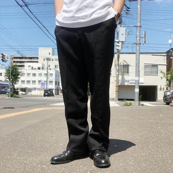 60's-80's/ビンテージ/スラックス/黒/42TALON/黒【実寸W32】タロン/パンツ/メンズ/服/70's/D142