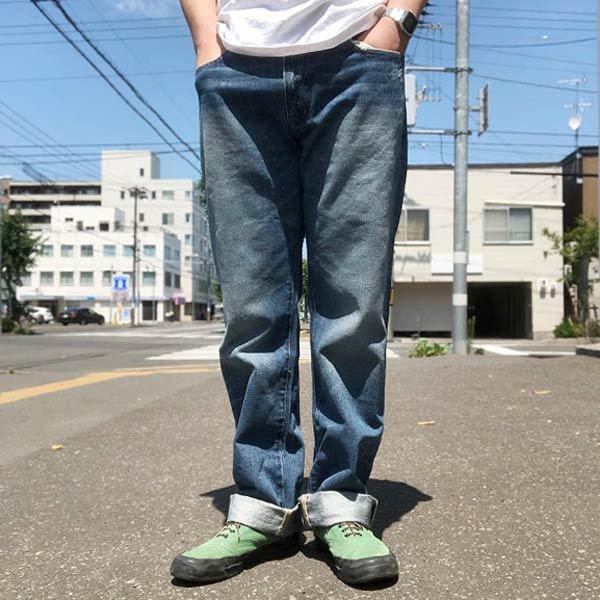 DENIM&SUPPLY/ラルフローレン/ビンテージ加工/ストレートジーンズ【実寸W33】ジーパン/デニム/パンツ/D139