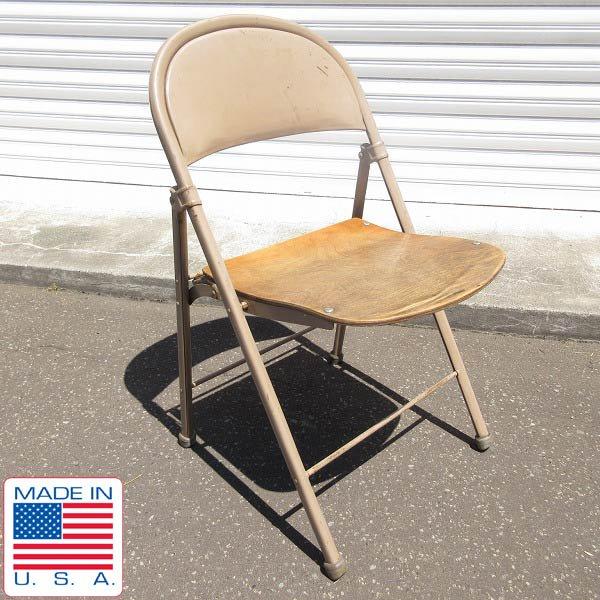 20's-40's/アンティーク/AMERICAN SEATING CO/フォールディング チェア/折りたたみ椅子/ビンテージ/D128