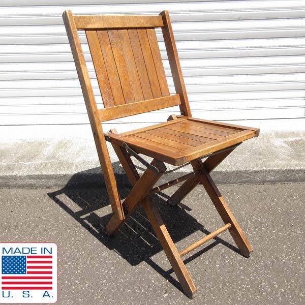 アンティーク/USA製/SIMMONS/シモンズ/ウッド/フォールディング チェア/木製/折りたたみ椅子/ビンテージ/アメリカ製/D128