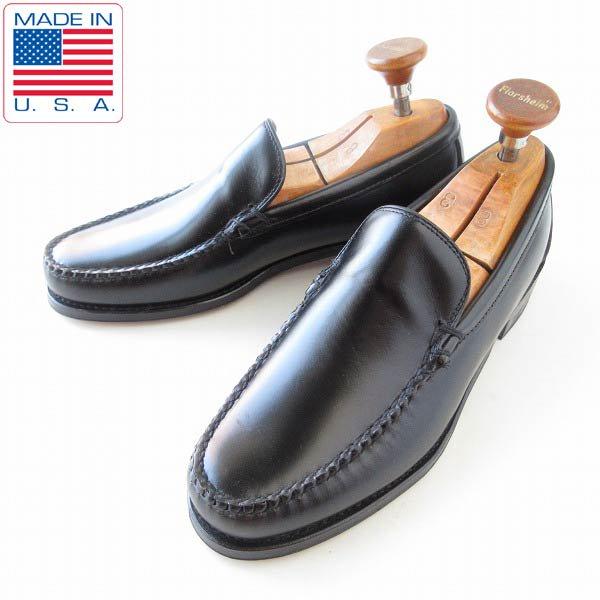 新品/USA製/SEBAGO/セバゴ/バンプ シューズ/黒【7.5E/幅広25.5cm】コブラバンプ/アイビー/スリッポン/メンズ/靴/D143