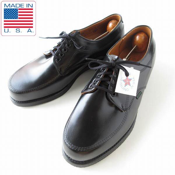 新品/80's-90's/USA製/MASON/USPS/Uチップ/ポストマンシューズ/黒【幅広26.5cm】アメリカ製/デッドストック/靴/D143