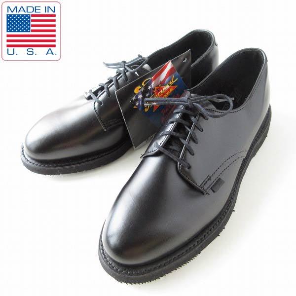 新品/USA製/ソログッド/USPS/プレーントゥ/ポストマンシューズ/黒【9.5M/27.5cm】アメリカ製/デッドストック/靴/D143