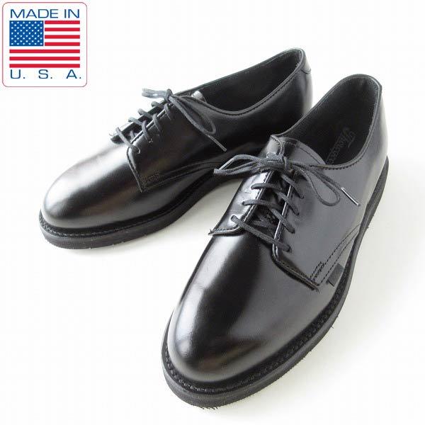 新品/USA製/ソログッド/USPS/プレーントゥ/ポストマンシューズ/黒【8M/26cm】アメリカ製/デッドストック/靴/D143