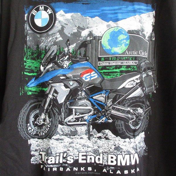 新品/Trail's End BMW/半袖Tシャツ/黒【L】アドバタイジング/企業物/両面プリント/コットン/丸胴/デッドストック/D143
