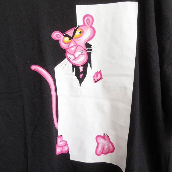 新品/00's/USA製/ピンクパンサー/大判プリント/半袖Tシャツ/黒【2XL】ビッグシルエット/ルーズシルエット/デッドストック/D143