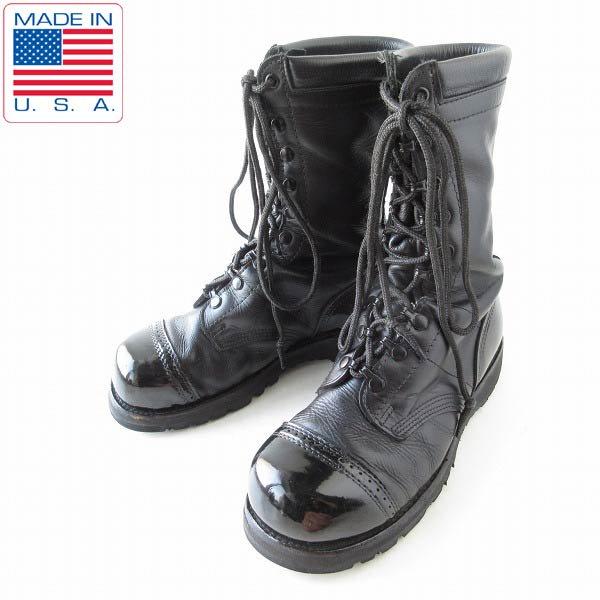 USA製/Corcoran/コーコラン/スチールトゥ/フィールドブーツ/黒【8D/26cm】米軍/ジャンプブーツ/サバゲー/D143