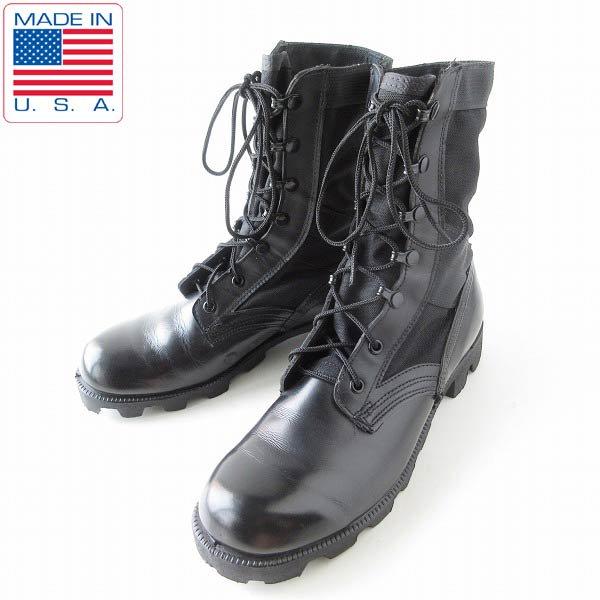 USA製/90's/実物/米軍/ジャングルブーツ/黒【7R/25cm】ミリタリーブーツ/コンバットブーツ/サバゲー/靴/D143