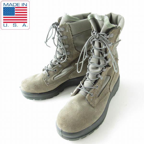 USA製/BELLEVILLE/米軍/USAF/レザー×ゴアテックス/ミリタリーブーツ【25cm】コンバットブーツ/米空軍/靴/D143